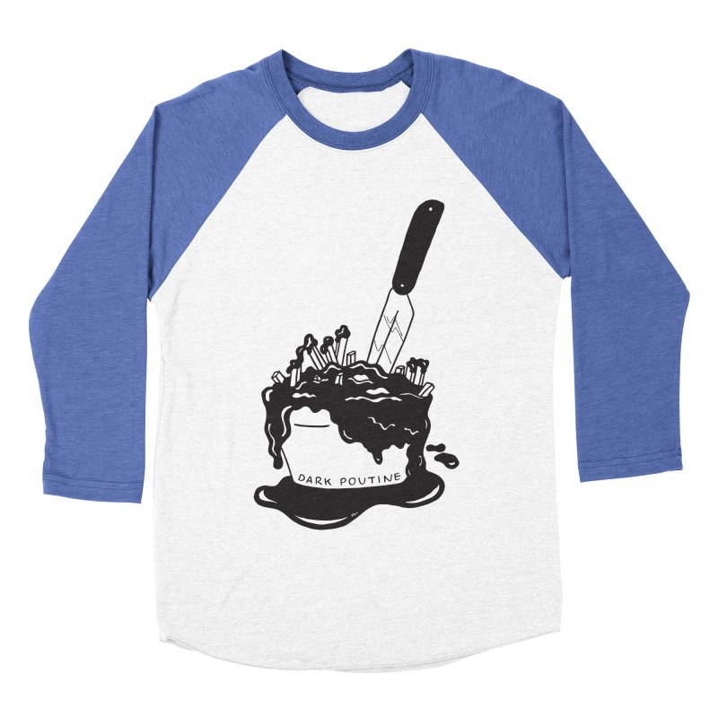Madison's Dark Poutine - BLACK Women's Baseball Triblend Longsleeve T-Shirt by Dark Poutine Podcast Swag