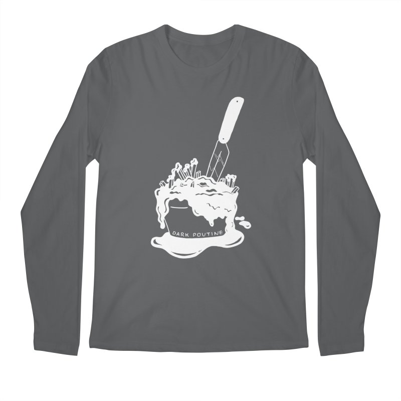 Madison's Dark Poutine - WHITE Men's Longsleeve T-Shirt by Dark Poutine Podcast Swag