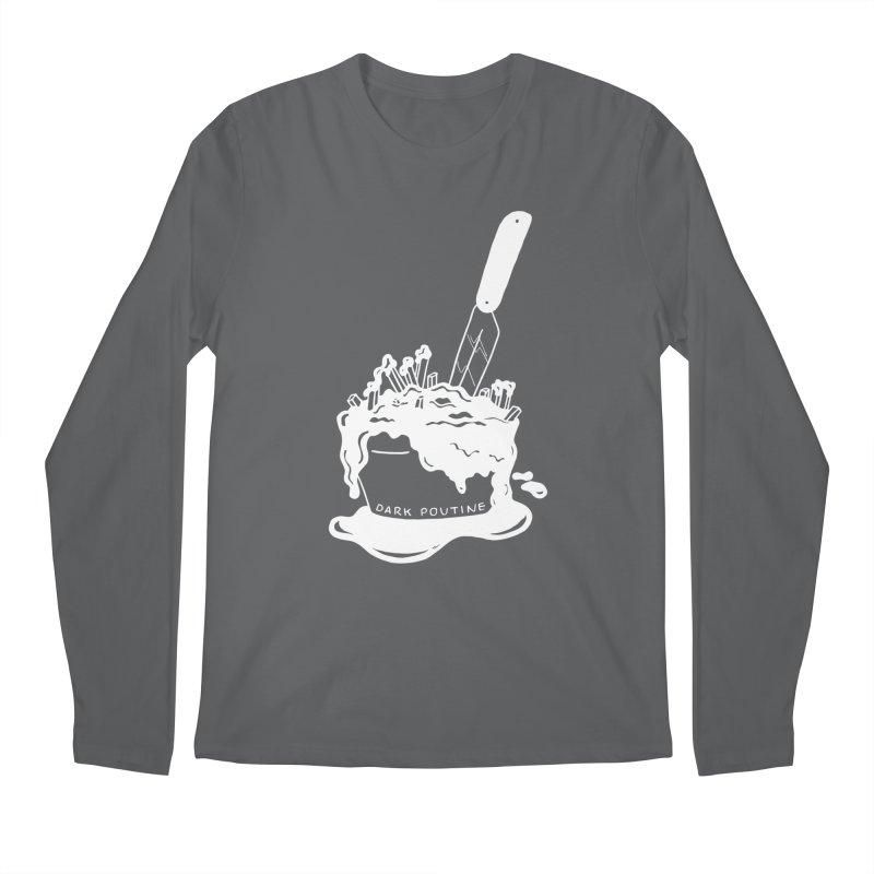 Madison's Dark Poutine - WHITE Men's Longsleeve T-Shirt by Dark Poutine Podcast Swag