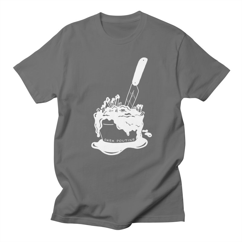 Madison's Dark Poutine - WHITE Men's T-Shirt by Dark Poutine Podcast Swag