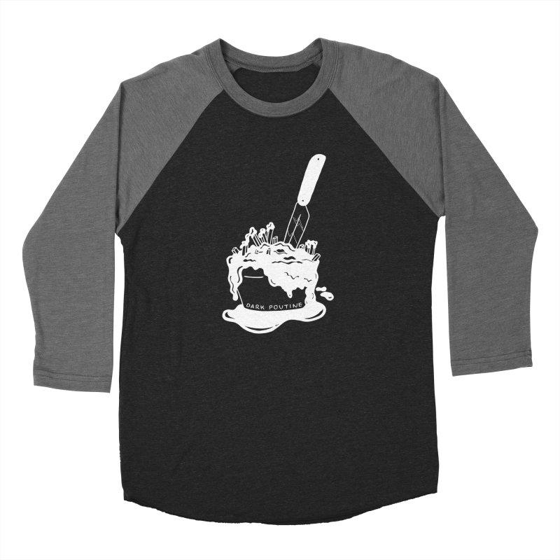 Madison's Dark Poutine - WHITE Women's Longsleeve T-Shirt by Dark Poutine Podcast Swag