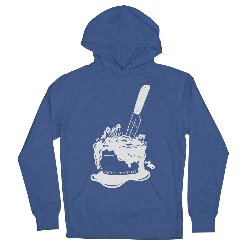 Madison's Dark Poutine - WHITE Women's French Terry Pullover Hoody by Dark Poutine Podcast Swag