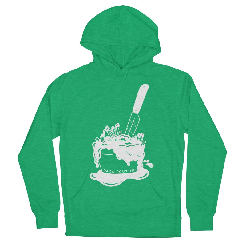 Madison's Dark Poutine - WHITE Men's French Terry Pullover Hoody by Dark Poutine Podcast Swag