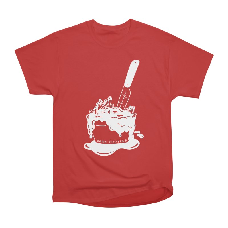 Madison's Dark Poutine - WHITE Men's Heavyweight T-Shirt by Dark Poutine Podcast Swag