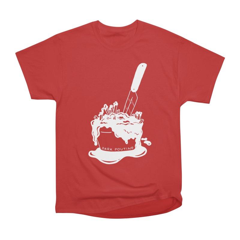 Madison's Dark Poutine - WHITE Women's Heavyweight Unisex T-Shirt by Dark Poutine Podcast Swag