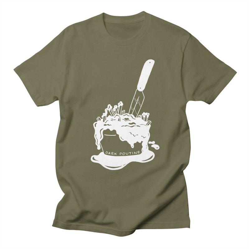 Madison's Dark Poutine - WHITE Women's Regular Unisex T-Shirt by Dark Poutine Podcast Swag