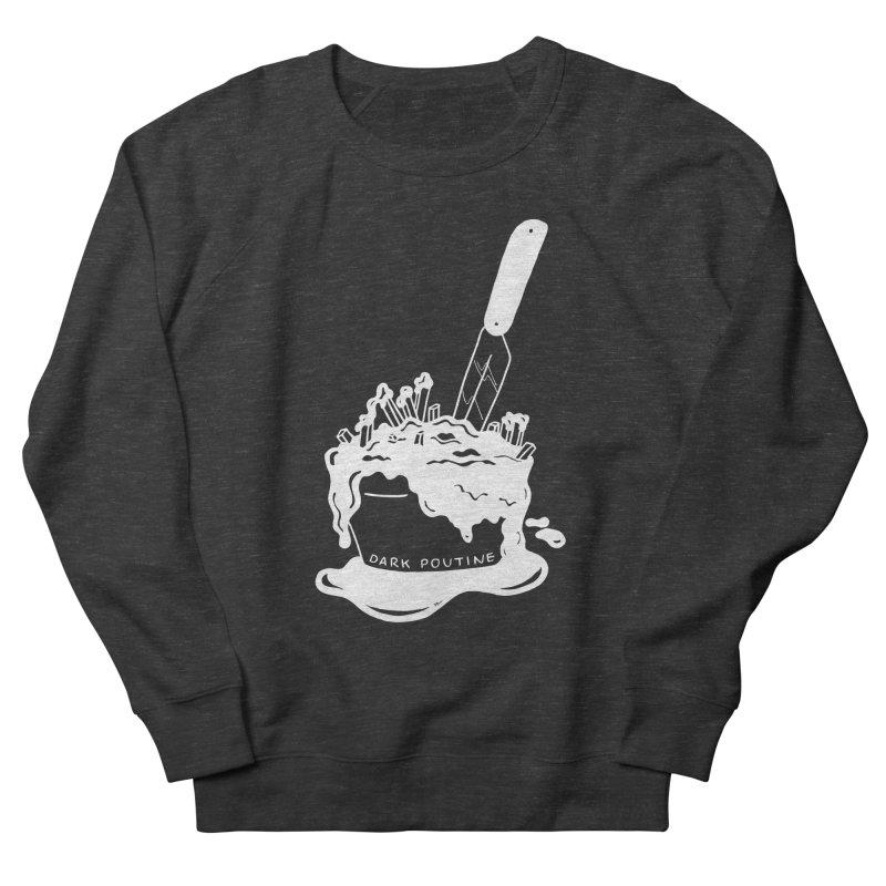 Madison's Dark Poutine - WHITE Women's French Terry Sweatshirt by Dark Poutine Podcast Swag