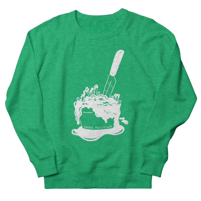 Madison's Dark Poutine - WHITE Men's French Terry Sweatshirt by Dark Poutine Podcast Swag