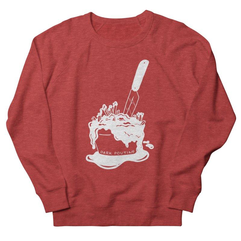 Madison's Dark Poutine - WHITE Men's French Terry Sweatshirt by Dark Poutine Podcast Swag