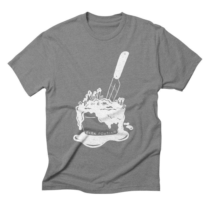 Madison's Dark Poutine - WHITE Men's Triblend T-Shirt by Dark Poutine Podcast Swag