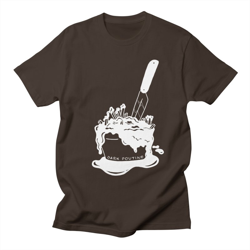 Madison's Dark Poutine - WHITE Men's Regular T-Shirt by Dark Poutine Podcast Swag