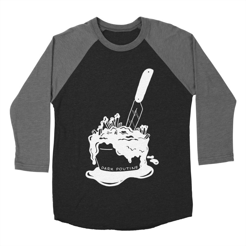 Madison's Dark Poutine - WHITE Women's Baseball Triblend Longsleeve T-Shirt by Dark Poutine Podcast Swag