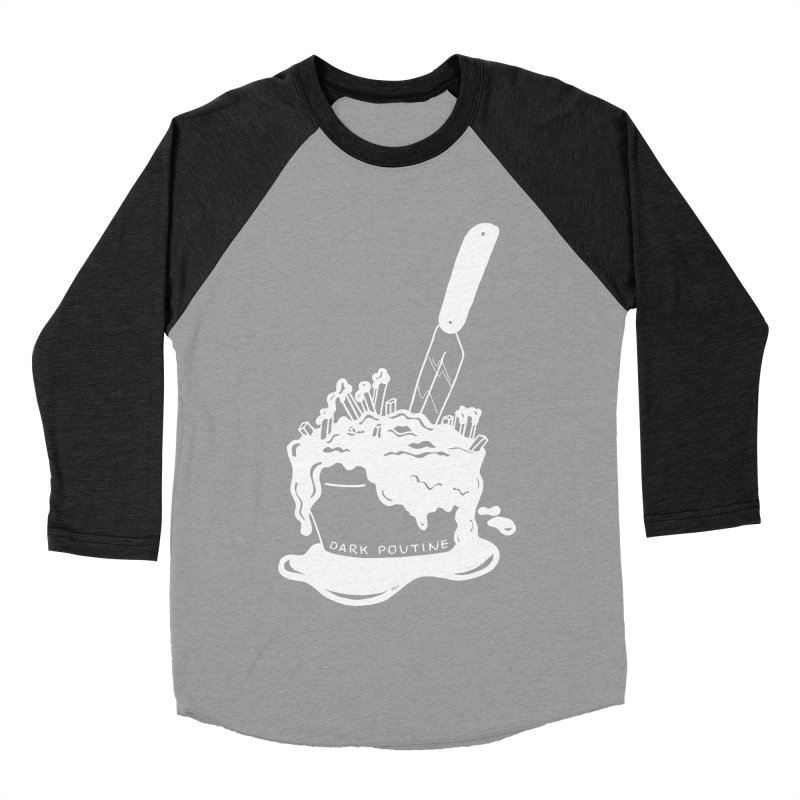 Madison's Dark Poutine - WHITE Men's Baseball Triblend Longsleeve T-Shirt by Dark Poutine Podcast Swag