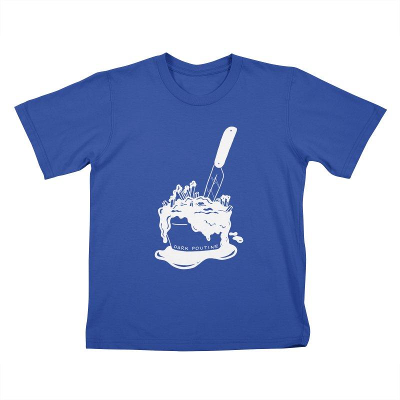 Madison's Dark Poutine - WHITE Kids T-Shirt by Dark Poutine Podcast Swag