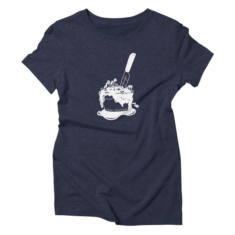 Madison's Dark Poutine - WHITE Women's T-Shirt by Dark Poutine Podcast Swag