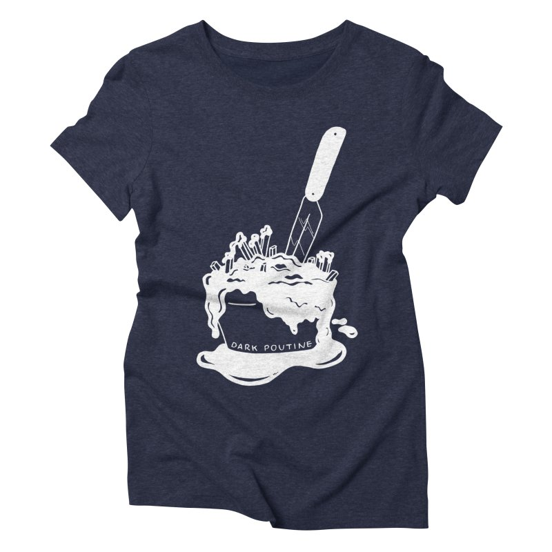 Madison's Dark Poutine - WHITE Women's T-Shirt by Dark Poutine Podcast Swag