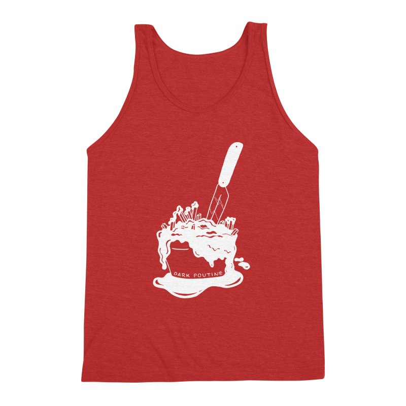 Madison's Dark Poutine - WHITE Men's Triblend Tank by Dark Poutine Podcast Swag
