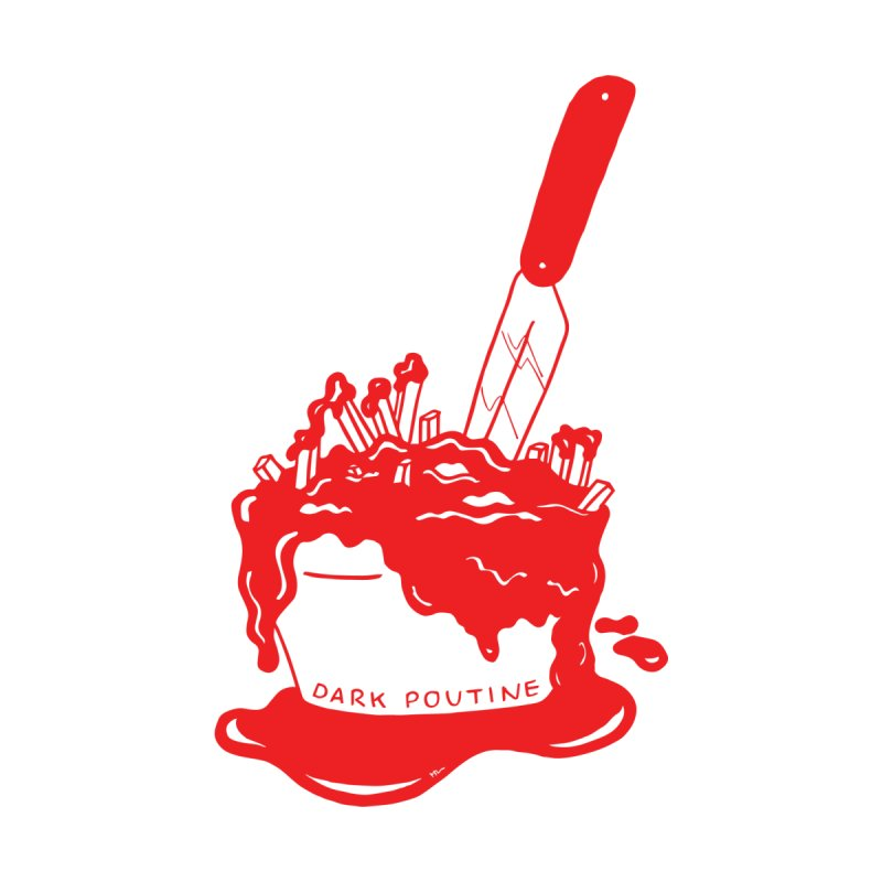 Madison's Dark Poutine - RED Women's V-Neck by Dark Poutine Podcast Swag