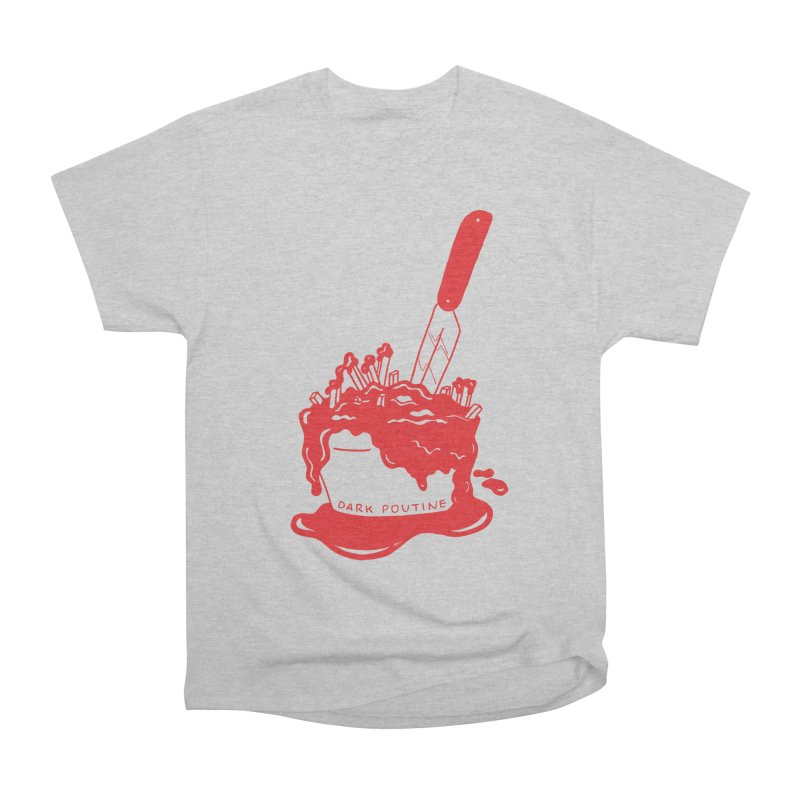 Madison's Dark Poutine - RED Men's T-Shirt by Dark Poutine Podcast Swag