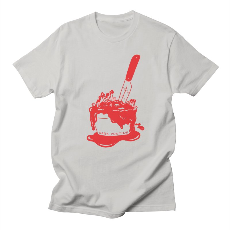 Madison's Dark Poutine - RED Women's T-Shirt by Dark Poutine Podcast Swag