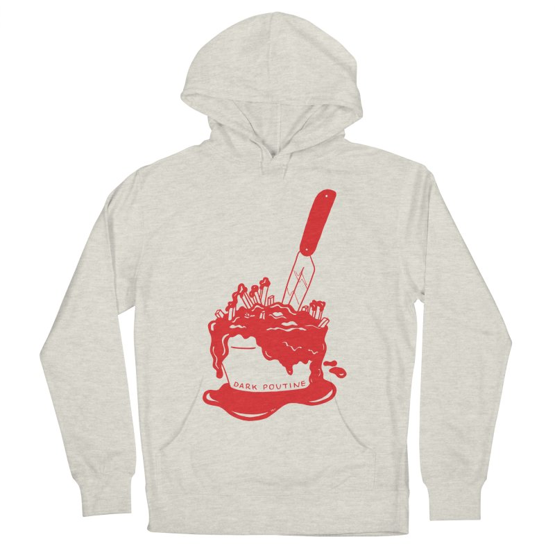 Madison's Dark Poutine - RED Men's French Terry Pullover Hoody by Dark Poutine Podcast Swag