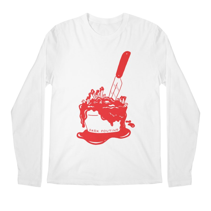 Madison's Dark Poutine - RED Men's Regular Longsleeve T-Shirt by Dark Poutine Podcast Swag