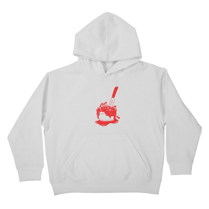 Madison's Dark Poutine - RED Kids Pullover Hoody by Dark Poutine Podcast Swag
