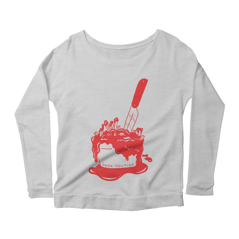 Madison's Dark Poutine - RED Women's Longsleeve T-Shirt by Dark Poutine Podcast Swag