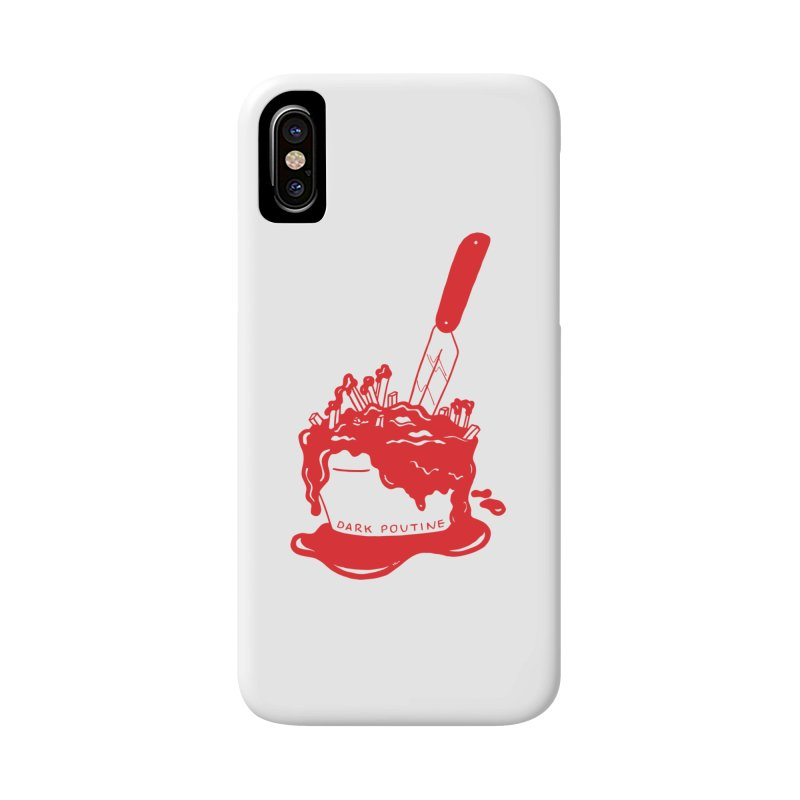 Madison's Dark Poutine - RED Accessories Phone Case by Dark Poutine Podcast Swag
