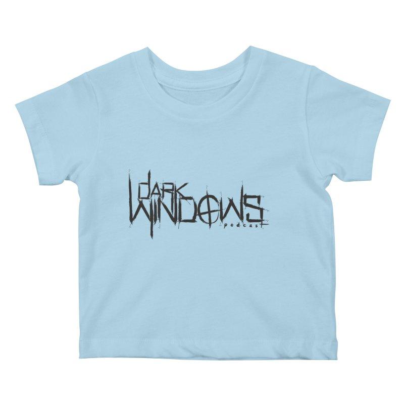 DWP LOGO BLACK Kids Baby T-Shirt by darkwindowspod's Artist Shop