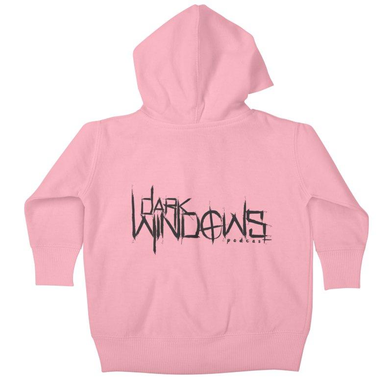 DWP LOGO BLACK Kids Baby Zip-Up Hoody by darkwindowspod's Artist Shop