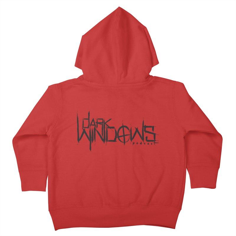 DWP LOGO BLACK Kids Toddler Zip-Up Hoody by darkwindowspod's Artist Shop