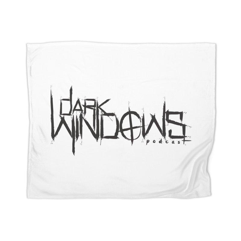 DWP LOGO BLACK Home Blanket by darkwindowspod's Artist Shop