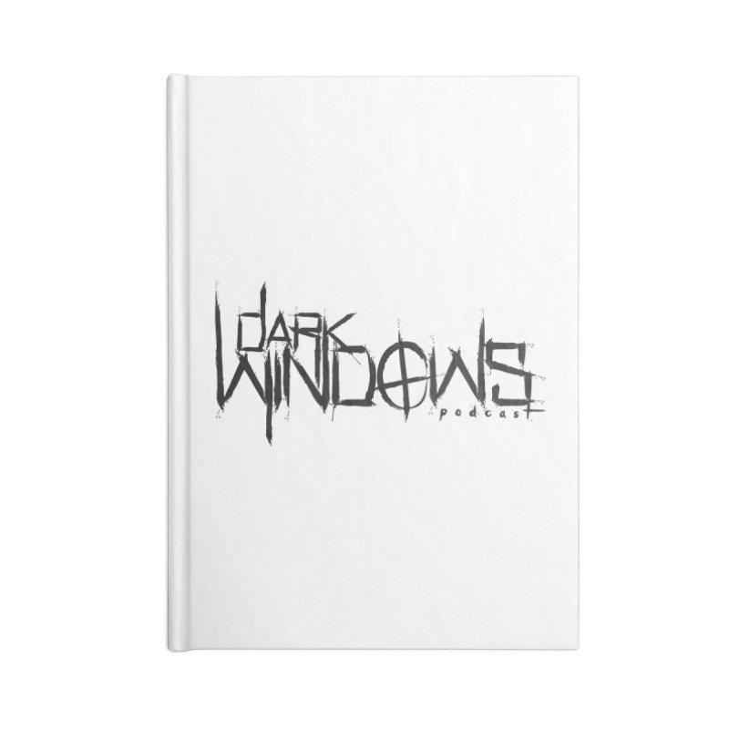DWP LOGO BLACK Accessories Notebook by darkwindowspod's Artist Shop