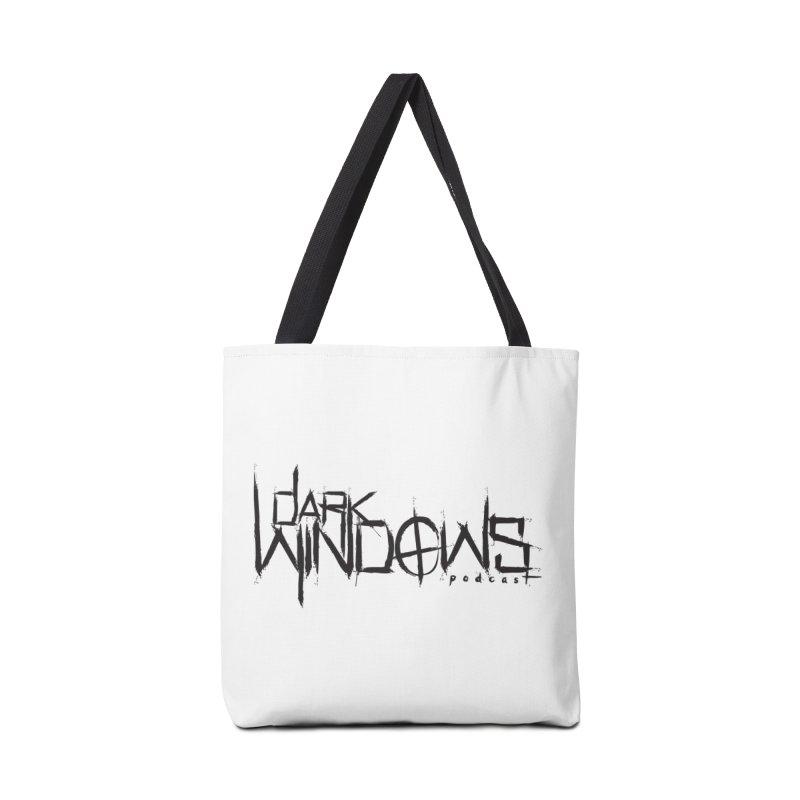 DWP LOGO BLACK Accessories Bag by darkwindowspod's Artist Shop