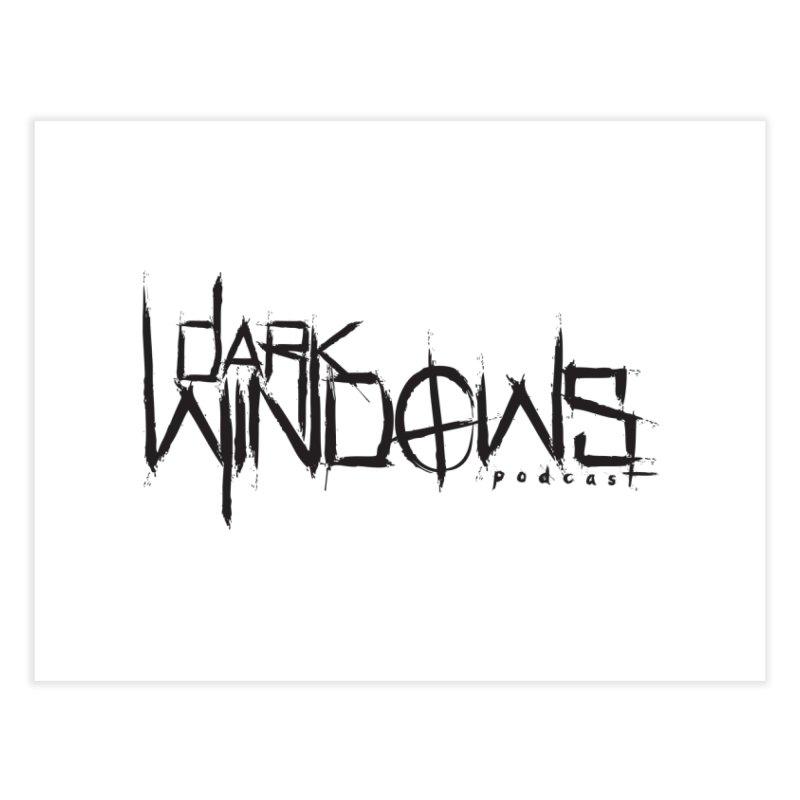 DWP LOGO BLACK Home Fine Art Print by darkwindowspod's Artist Shop