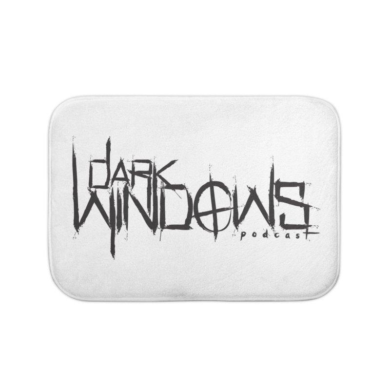 DWP LOGO BLACK Home Bath Mat by darkwindowspod's Artist Shop