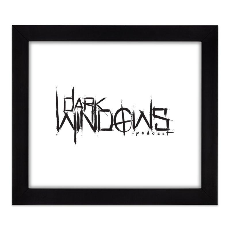 DWP LOGO BLACK Home Framed Fine Art Print by darkwindowspod's Artist Shop
