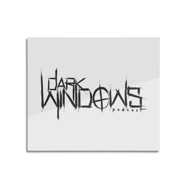 DWP LOGO BLACK Home Mounted Acrylic Print by darkwindowspod's Artist Shop