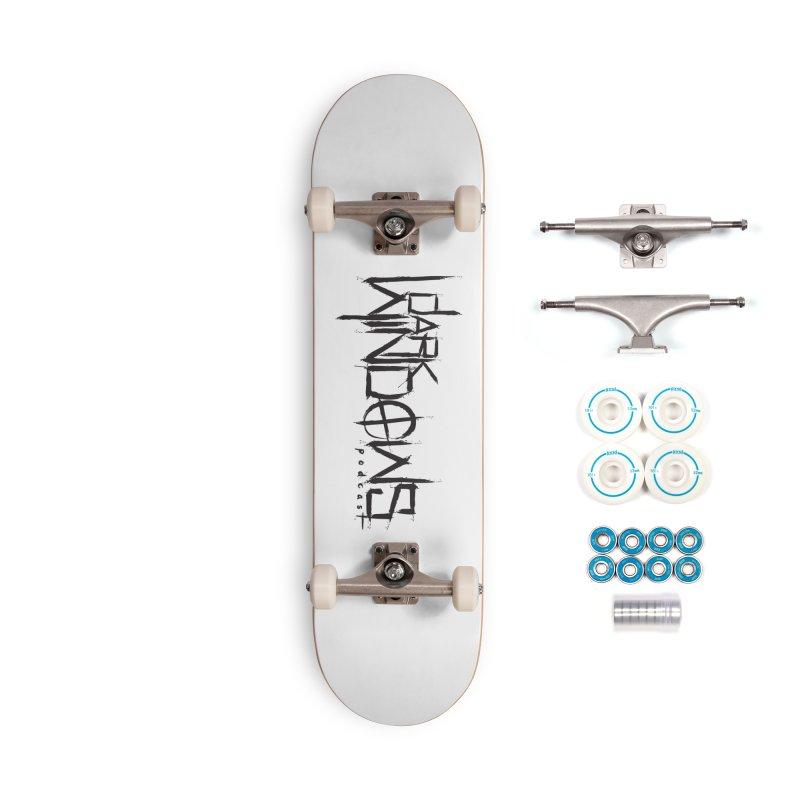 DWP LOGO BLACK Accessories Skateboard by darkwindowspod's Artist Shop