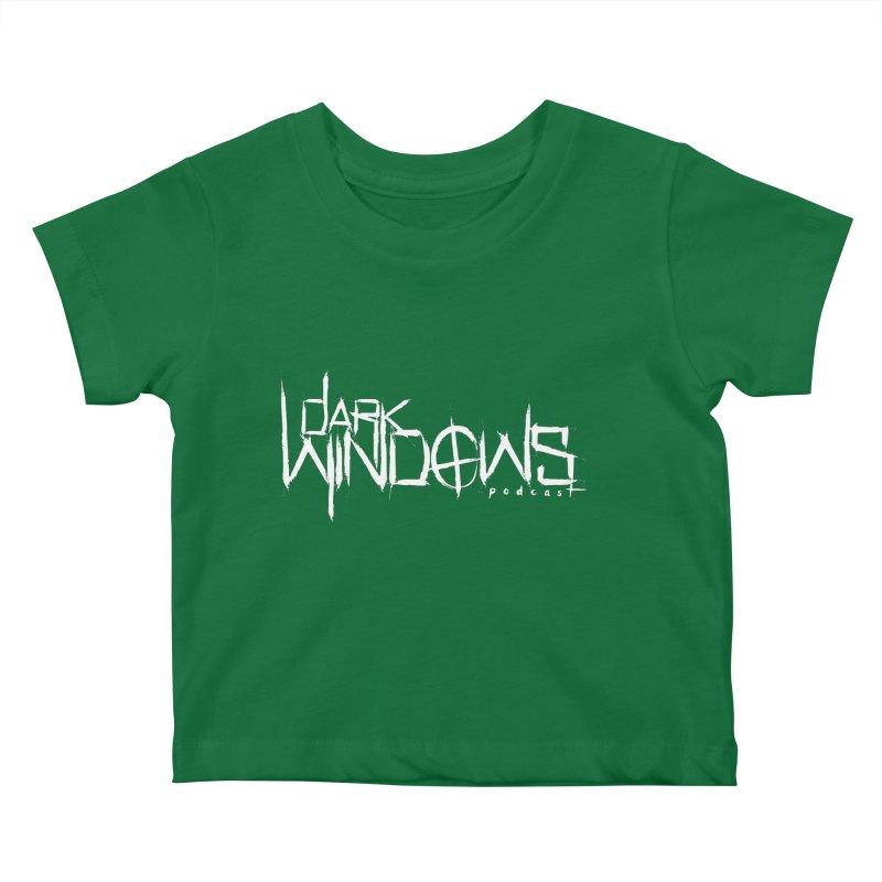 DWP LOGO WHITE Kids Baby T-Shirt by darkwindowspod's Artist Shop