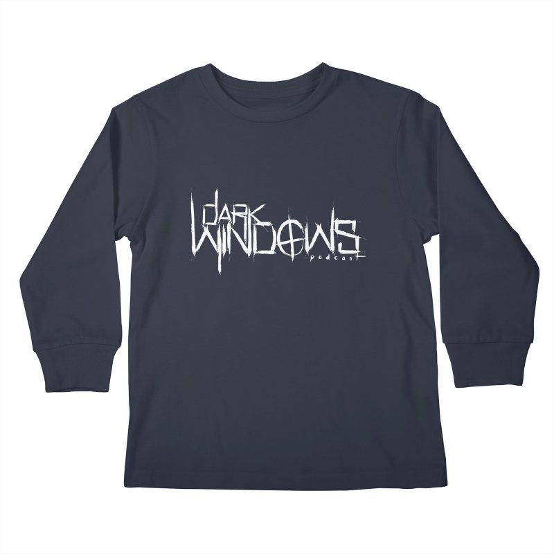 DWP LOGO WHITE Kids Longsleeve T-Shirt by darkwindowspod's Artist Shop