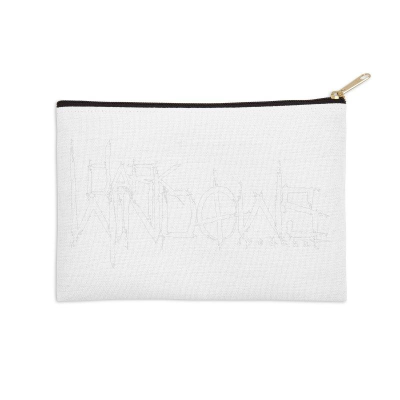 DWP LOGO WHITE Accessories Zip Pouch by darkwindowspod's Artist Shop