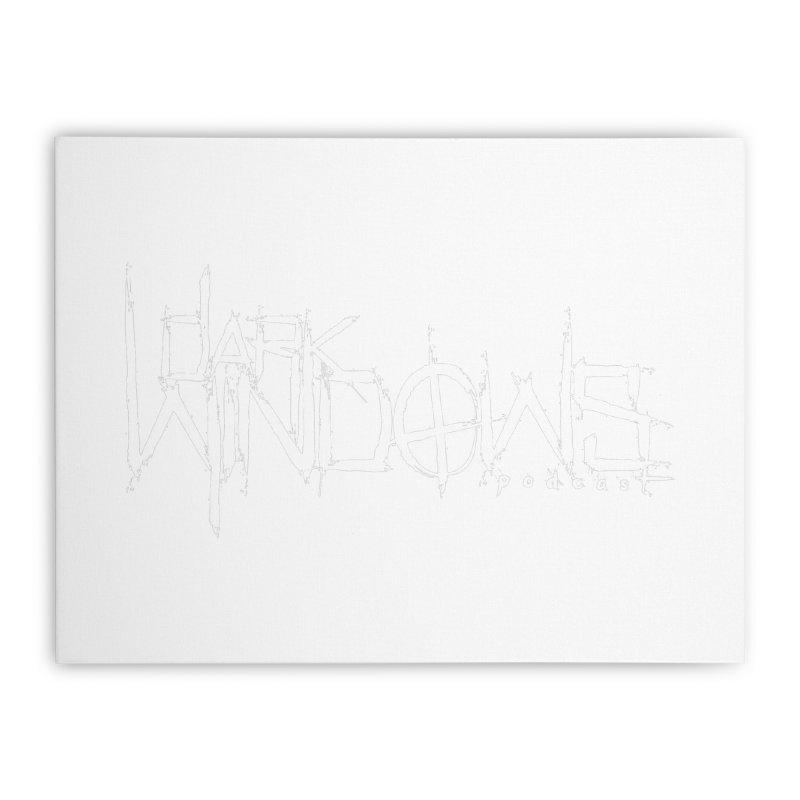 DWP LOGO WHITE Home Stretched Canvas by darkwindowspod's Artist Shop