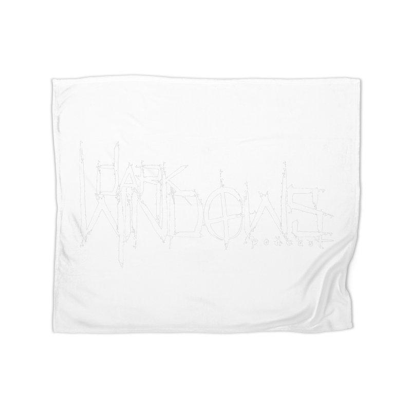 DWP LOGO WHITE Home Blanket by darkwindowspod's Artist Shop
