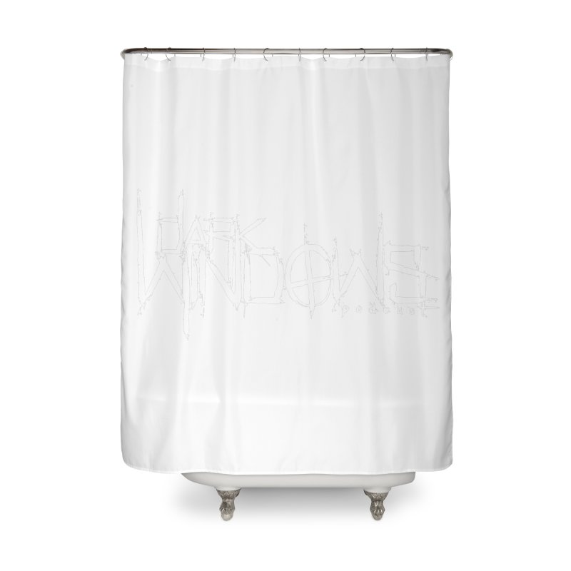 DWP LOGO WHITE Home Shower Curtain by darkwindowspod's Artist Shop
