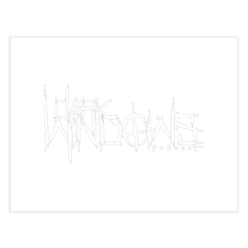 DWP LOGO WHITE Home Fine Art Print by darkwindowspod's Artist Shop