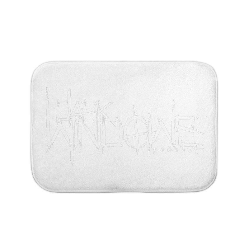 DWP LOGO WHITE Home Bath Mat by darkwindowspod's Artist Shop
