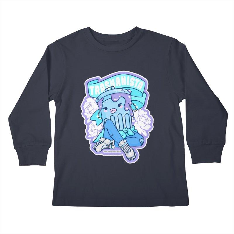 Trashanista Kids Longsleeve T-Shirt by Darling Homebody