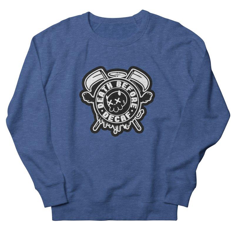 Death Before Decaf Black Men's Sweatshirt by Darling Homebody